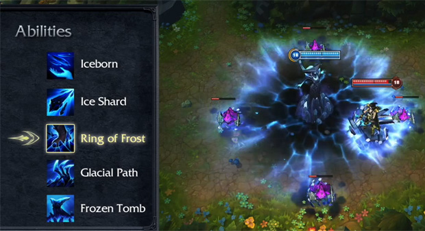 League of Legends Lissandra Ring Of Frost