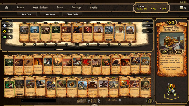 Scrolls Deck Builder