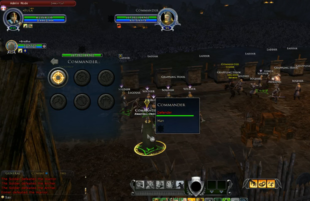 LOTRO Epic Battles Commander Options