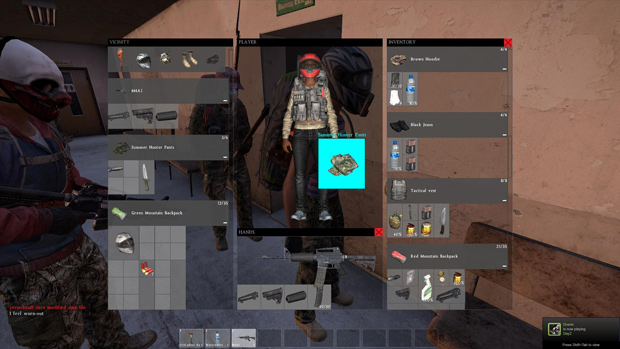 DayZ Alpha Preview Character Creation