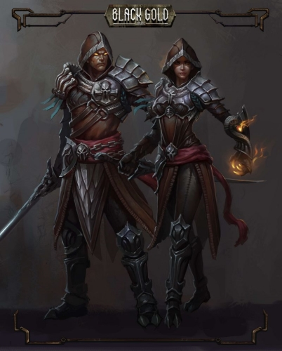 Black Gold Spellsword Concept Art
