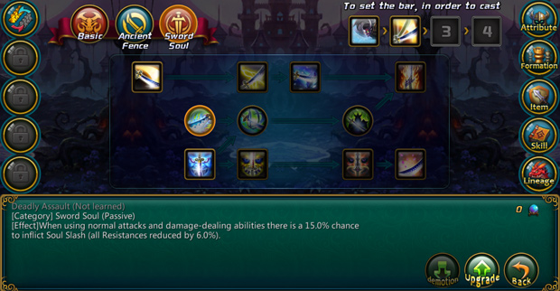 Inferno Legend Skill Screen