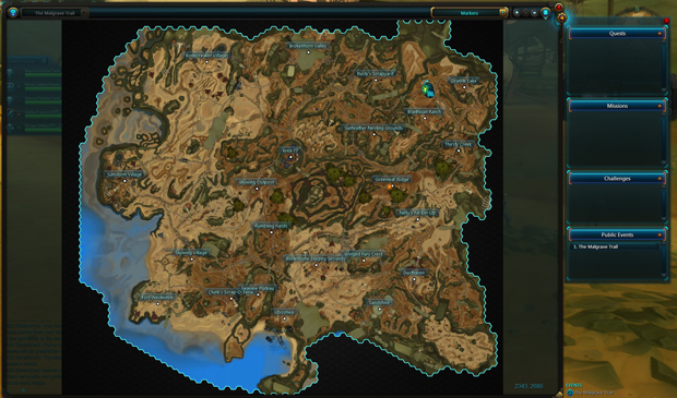 WildStar Malgrave Map Overview