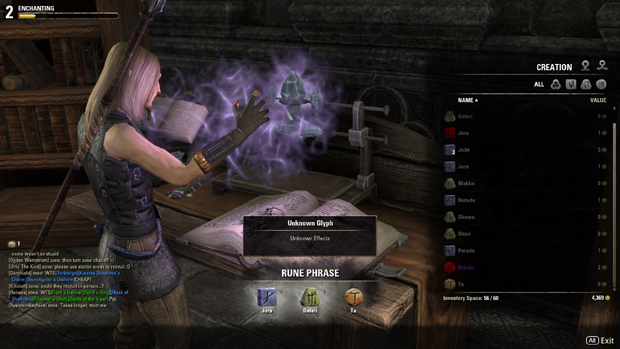 Elder Scrolls Online Launch Review Enchanting