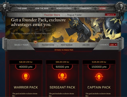W40KEC Founder Pack Screencap