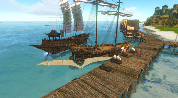 ArcheAge Boats  Galleon East