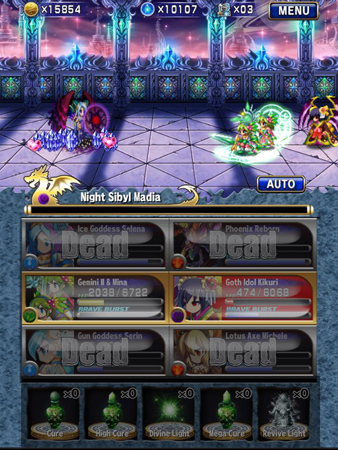 Brave Frontier Review Battle