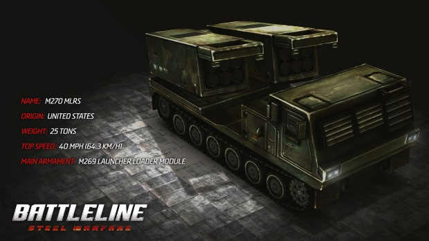 Battleline Steel Warfare M270_MLRS