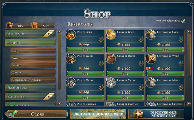 Might & Magic Heroes Online  Cash Shop