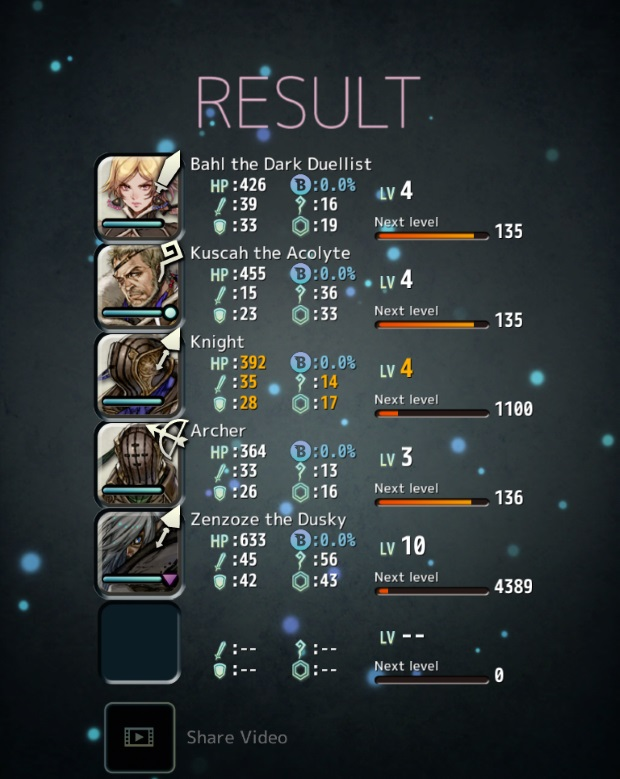 Terra Battle Result