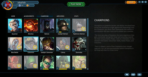 Infinite Crisis OB Review Champions