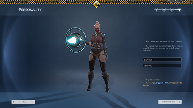 Skyforge Character Creation Screenshot