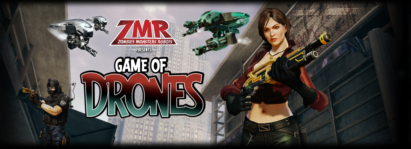 Zombies Monsters Robots Game of Drones Update Takes to the Skies Banner