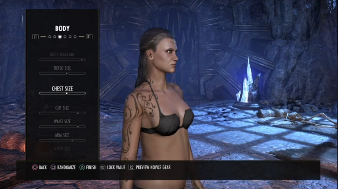 TESO Body Sliders