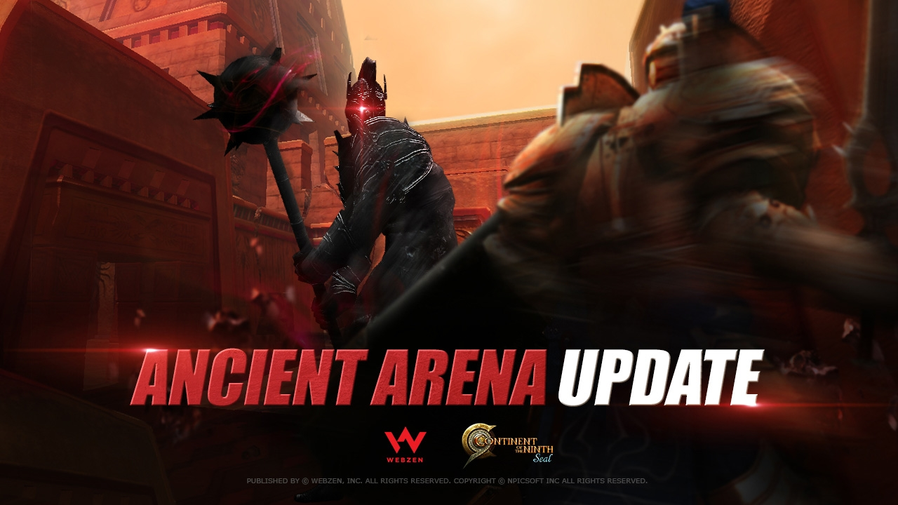Continent of the Ninth Seal Releasing Ancient Arena Update news header