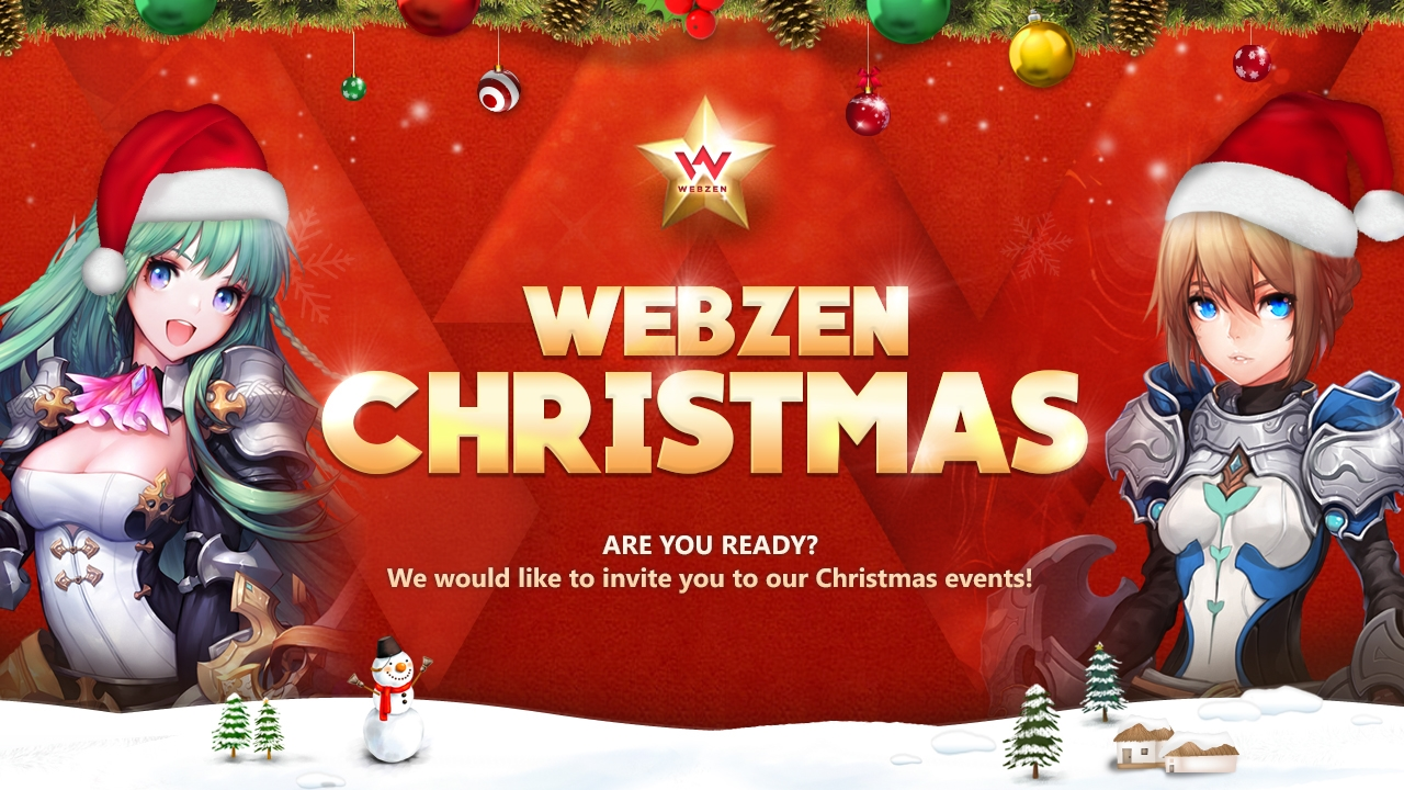 WEBZEN Spreads Christmas Cheer news header
