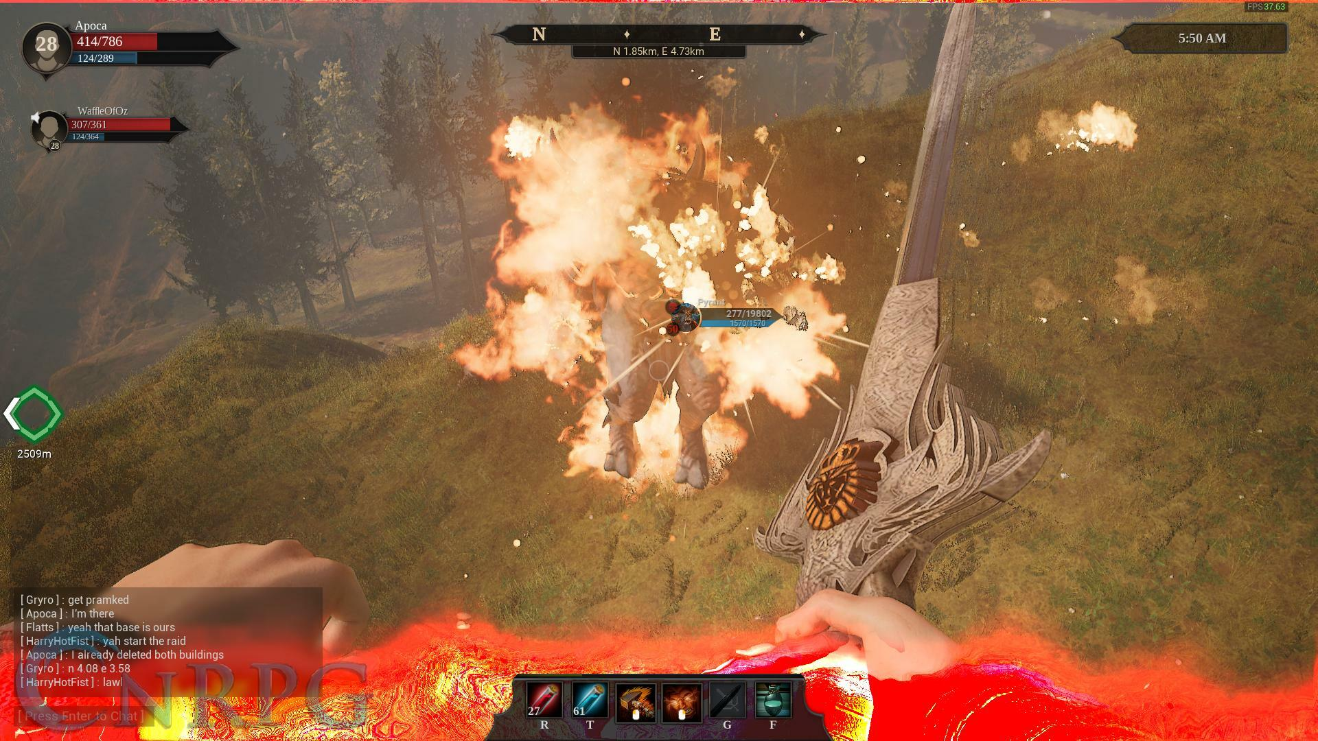 Citadel: Forged with Fire Preview Screenshot Pyrant Fight