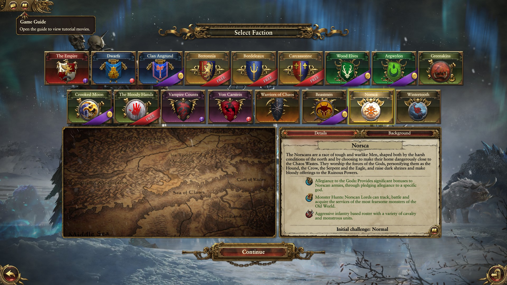 Total War - Warhammer -Selection Screen