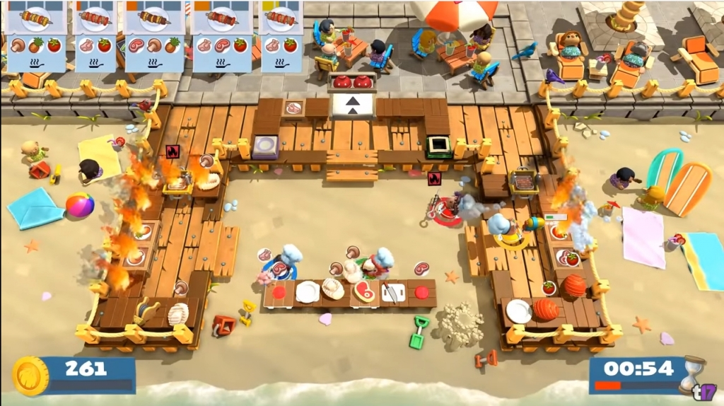Featured video: Overcooked! 2 – Surf 'n' Turf – Launch Trailer