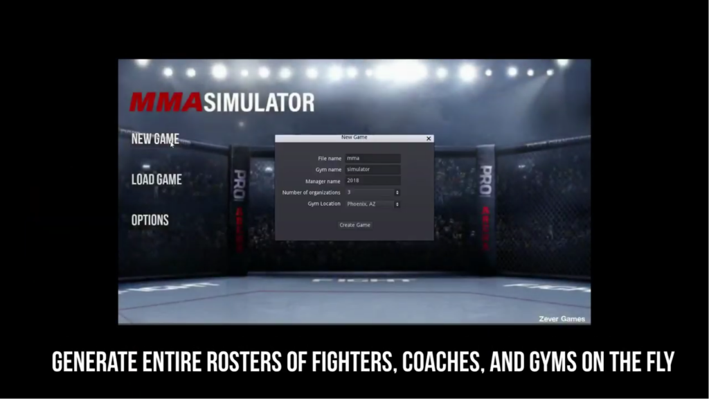 Featured video: MMA Simulator Steam Trailer