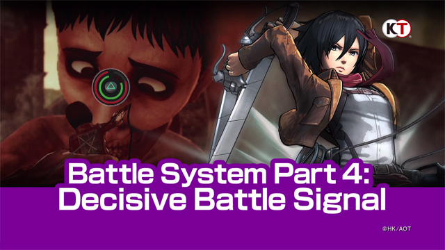 Featured video: Attack on Titan Battle Systems 4: Decisive Battle Signal