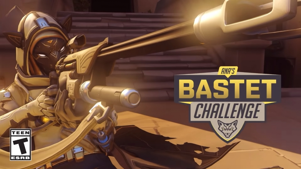Featured video: Overwatch – Ana's Bastet Challenge
